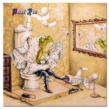 Алмазная картина «сделай сам» мультфильм животные лягушка туалет