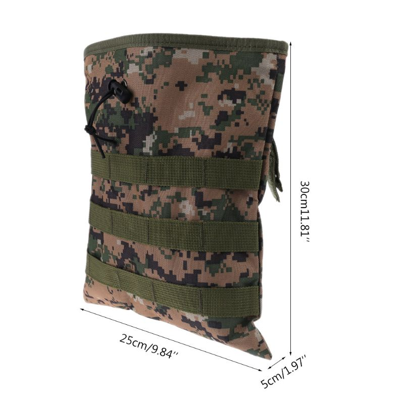 Camo Metal Detecting Finds Recovery Waist Bag Pouch Drawstring Belt Treasure Bag C90A