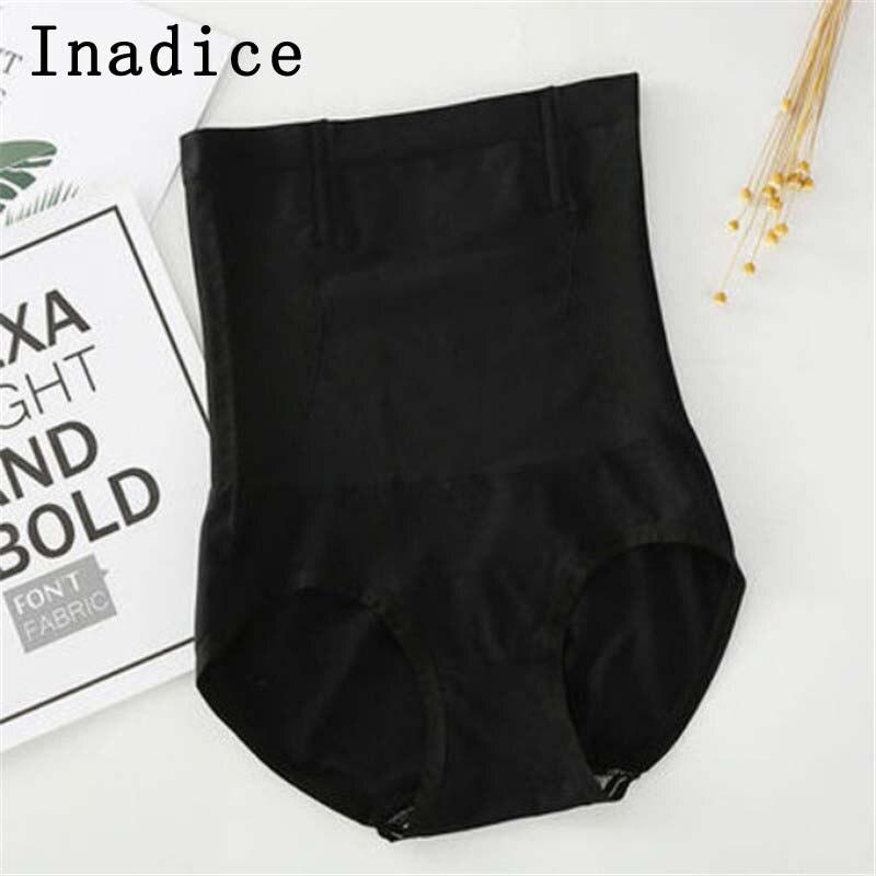 Inadice Ladies High Waist Control Panties Body Shaper Sexy Underwear Women Clothes  Fashion Cotton Seamless Black Corset Belt