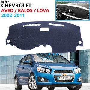 Защитная накладка на приборную панель для Chevrolet Aveo Kalos Lova Nexia Gentra Pontiac G3 2002 ~ 2011, коврик от солнца 2010
