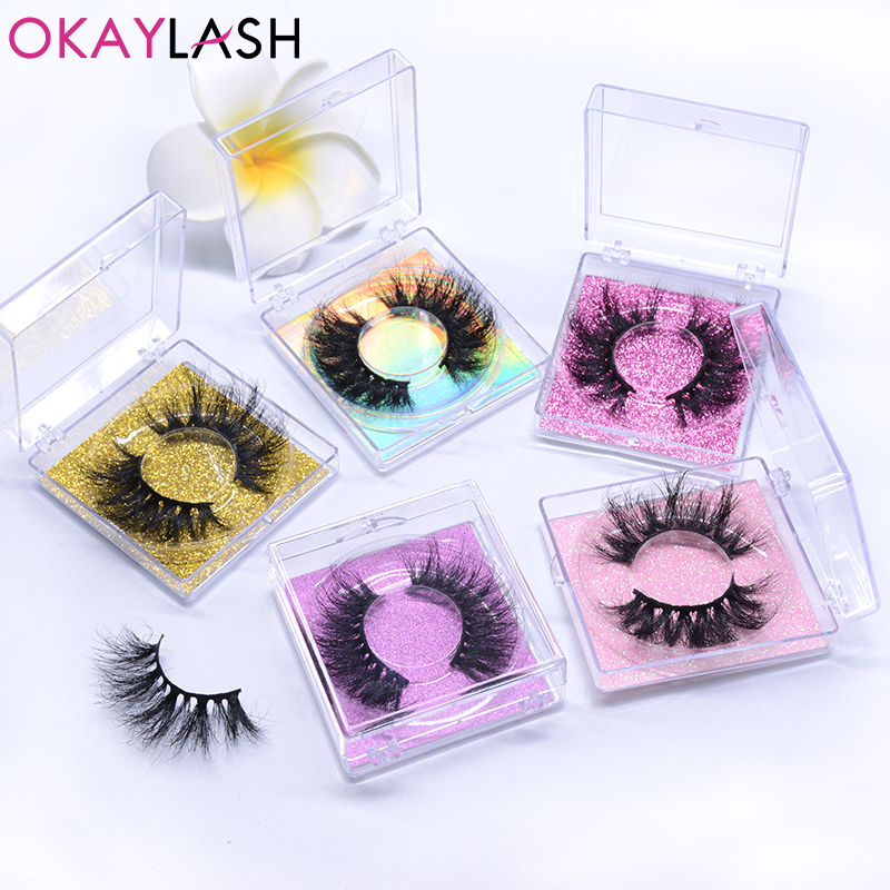 OKAYLASH 25mm Hot Selling False  Eyelashes Wholesale Thick  Full Fluffy Long Dramatic Mink Eye Lashes Makeup