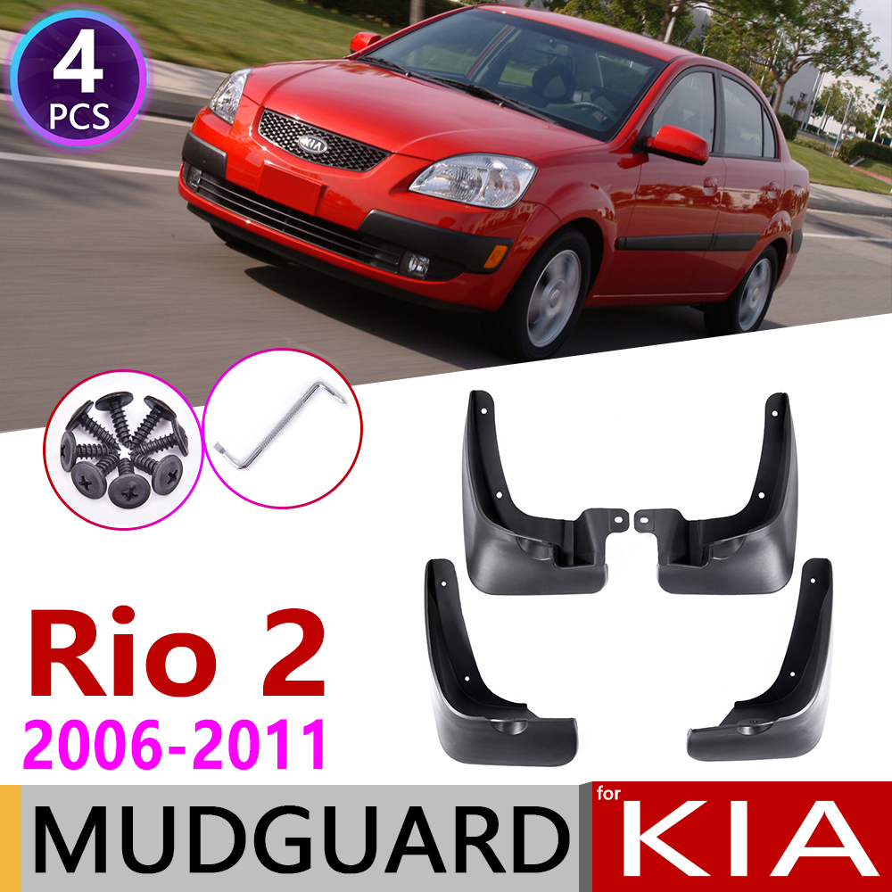 For KIA Rio 2 JB Sedan Saloon 2006~2011 Car Mudflap Fender Mud Flaps Guard Splash Flap Mudguards Accessories 2007 2008 2009 2010