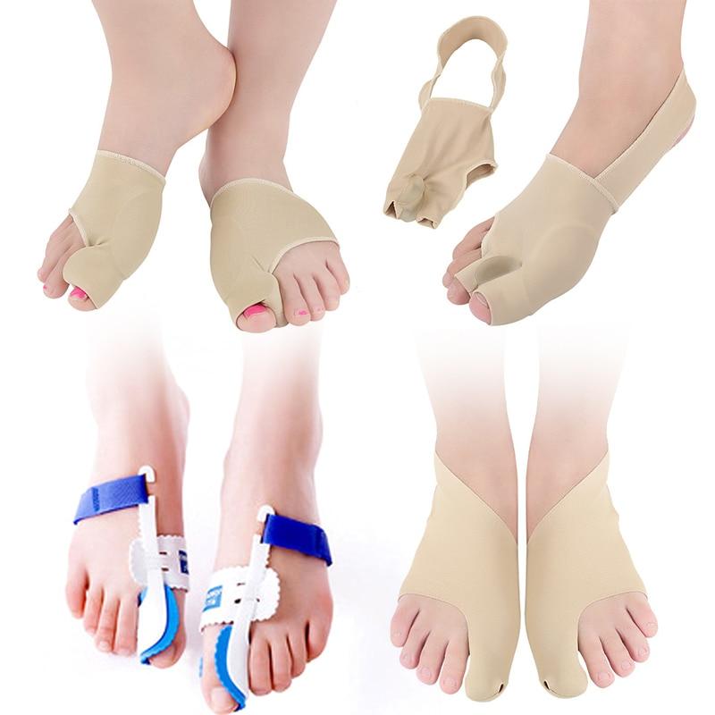 Toe Separator Hallux Valgus Bunion Corrector Bone Thumb Adjuster Correction Pedicure Sock Straightener Feet Care Cushion Pad
