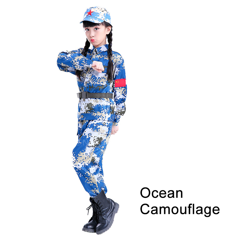 Children Camouflage Tactical Uniforms Hunting Set Men Military Clothing Combat Jackets Pants Kids Army Clothes Cosplay Costumes - Цвет: Style3