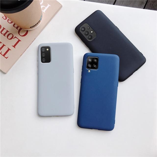 Candy Color Silicone Phone Case For samsung galaxy A12 A42 A52 A72 A32 5G M02S A02S M31s Matte Soft Tpu Back Cover Fundas Coque 4