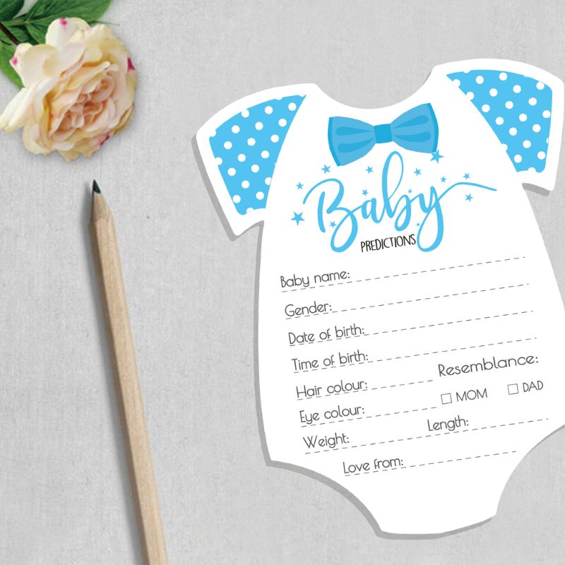 10 Pack Advice And Prediction Cards For Baby Shower Game Gender Neutral Boy Girl G99C