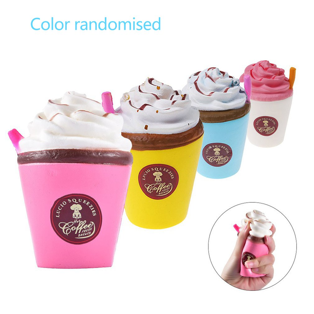 Slow-Rising Rebound Model PU Elastic Stress Relief Squeeze Toy Icecream Shape For Kids And Adults Gifts Toys