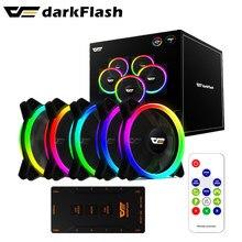 Darkflash DR12 PRO aura sync ARGB mudo ventilador de 120mm de la computadora de la PC caso de ventilador de refrigeración RGB de control remoto de halo doble enfriador 12CM ventilador LED