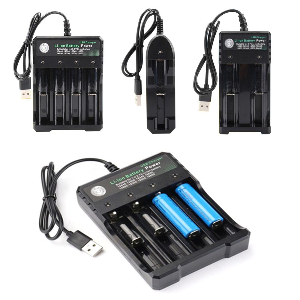 3.7 V 18650 Charger Lithium Ion Battery USB Independent Charging Portable 18350 16340 14500 Battery Charger 40JP02