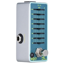 Eno Ex Eq7 Guitar Equalizer Effect Pedal 7-Band Eq Full Metal Shell True Bypass Alloy Shell Guitar Parts & Accessories