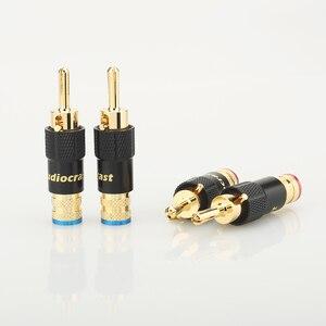 Image 3 - 4 個 24 18k ゴールドメッキバナナプラグスクリューロック 10 ミリメートルケーブル電線コネクタ