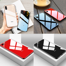 Luxury Tempered Glass Phone Case For iPhone