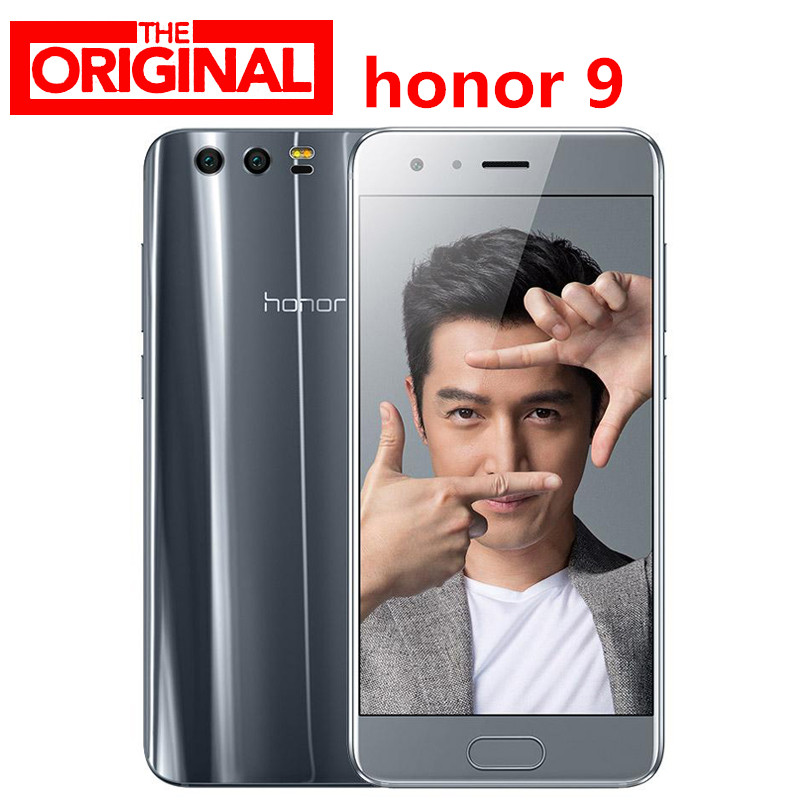 "Lager! original HuaWei Honor 9 4G LTE SmartPhone Kirin 960 Octa Core 5,15 ""FHD 1920X1080 6GB RAM 128GB ROM 20.0MP NFC Android 7.0"
