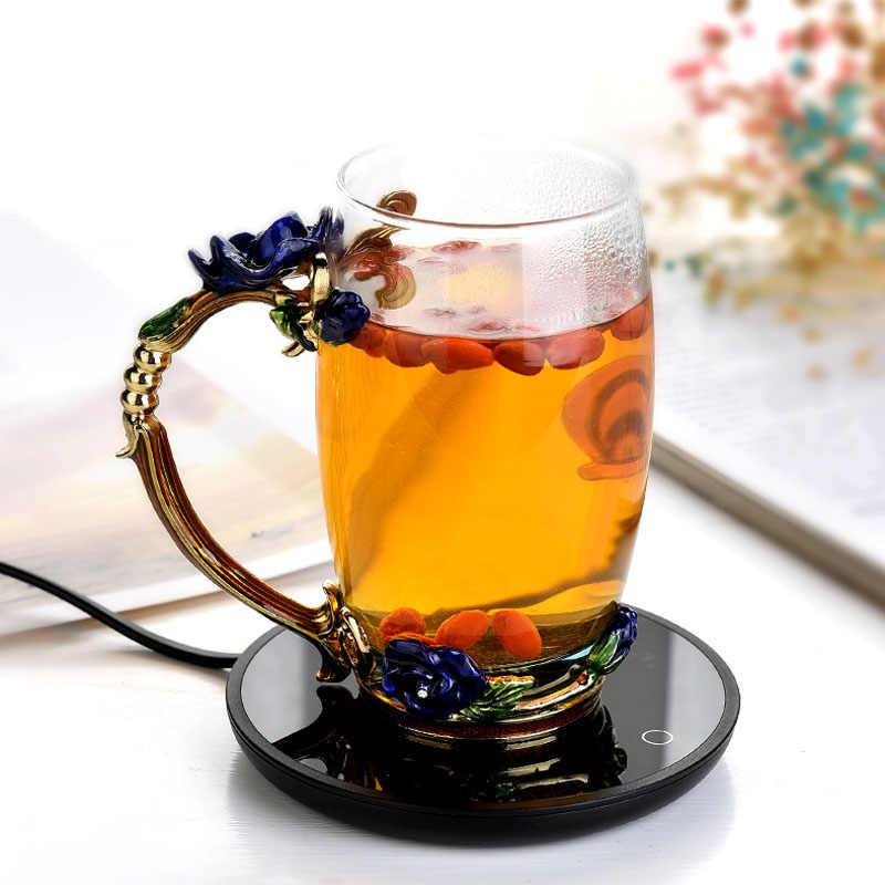 جديد كوب لشرب القهوة دفئا للمنزل مكتب الحليب الشاي المياه لوحة التدفئة 2 درجات حرارة ثابتة اختياري السيارات قبالة أفضل هدية فكرة