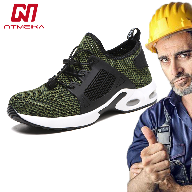 Plus Size 36-48 Safety Shoes Men Women Work Shoes Steel Toe Breathable Work Safety Boots For Men MB249