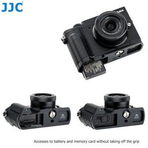 Image 4 - Quick Release Camera Hand Grip L Plate L Bracket for Panasonic Lumix GX9 GX85 GX80 GX7 Mark III II Replace DMW HGR2 Camera Grip
