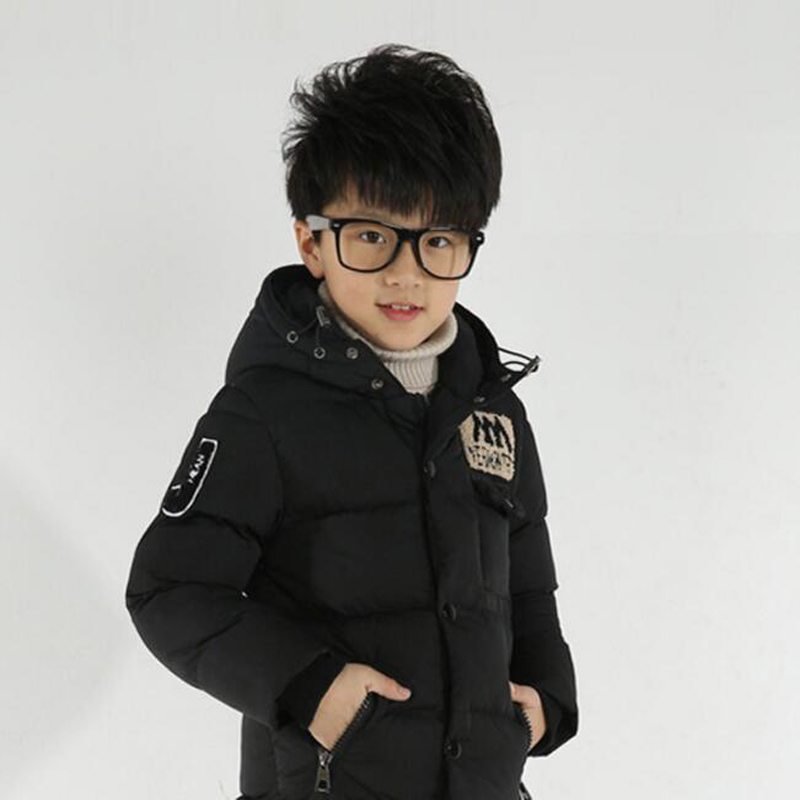 New Winter Clothing Boys 4 Keep Warm 6 Children 8 Autumn Hooded 10 Coat 12 Middle Aged 14 Year 15 Pile Thicker Cotton Jackets 2