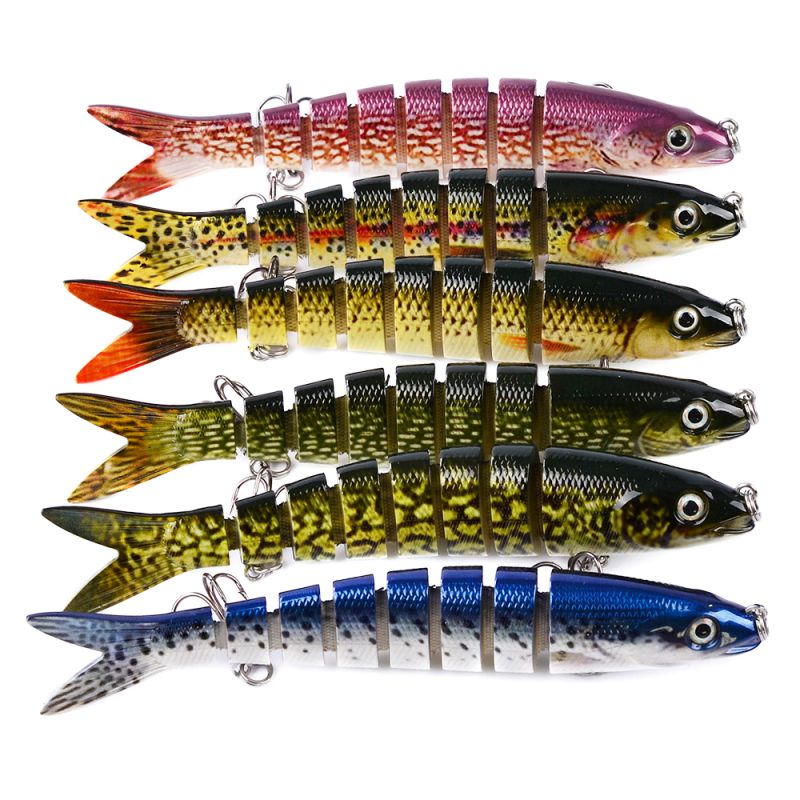 1pcsc Professional Multi Jointed Sections Fishing Lure Hard Bait Artificial Fishing Tackle High-quality 2020
