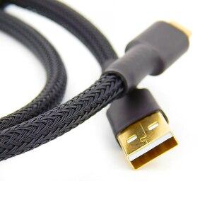 Image 3 - OTG usb קו hifi USB כבל כפול טבעת מגנטית זהב מצופה מגבר DAC כבל USB USB סוג C