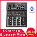Mezclador profesional LEORY para DJ con 4 canales, consola mezcladora de sonido bluetooth para Karaoke KTV con conector USB MP3, mezclador de Audio en vivo