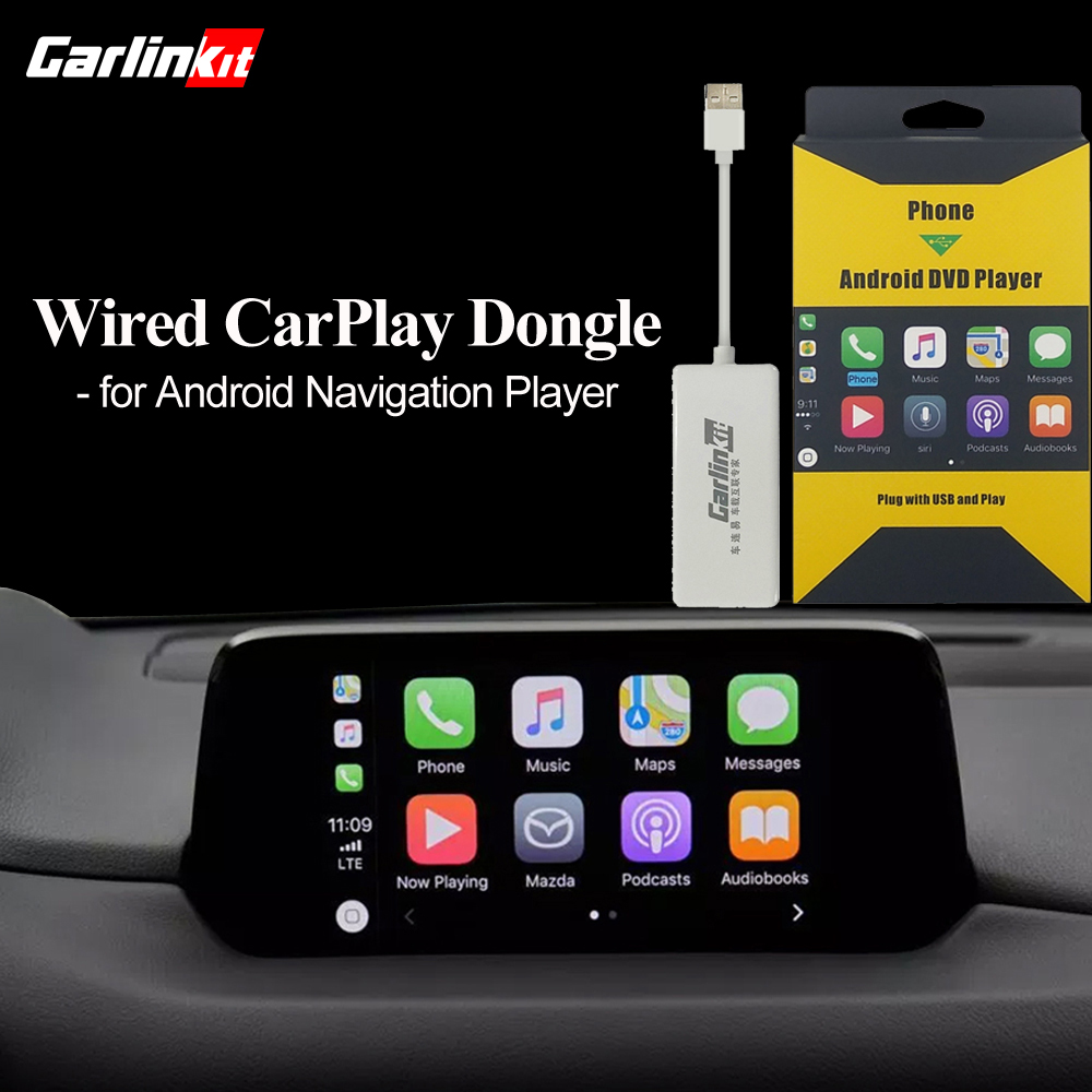 mzd connect carplay - Carlinkit USB Apple Carplay Dongle for Android Auto iPhone iOS12 Carplay Support Android/MTK WinCE system Car Navigation Player