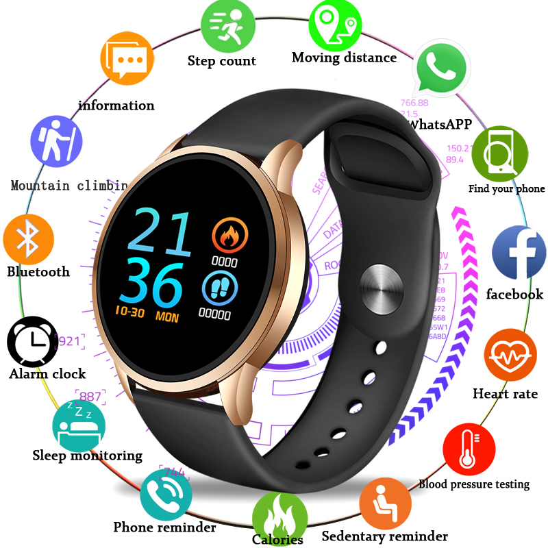 LIGE fitness tracker smart watch Waterproof Sport For IOS Android phone Smartwatch Heart Rate Monitor Blood Pressure monitor+box