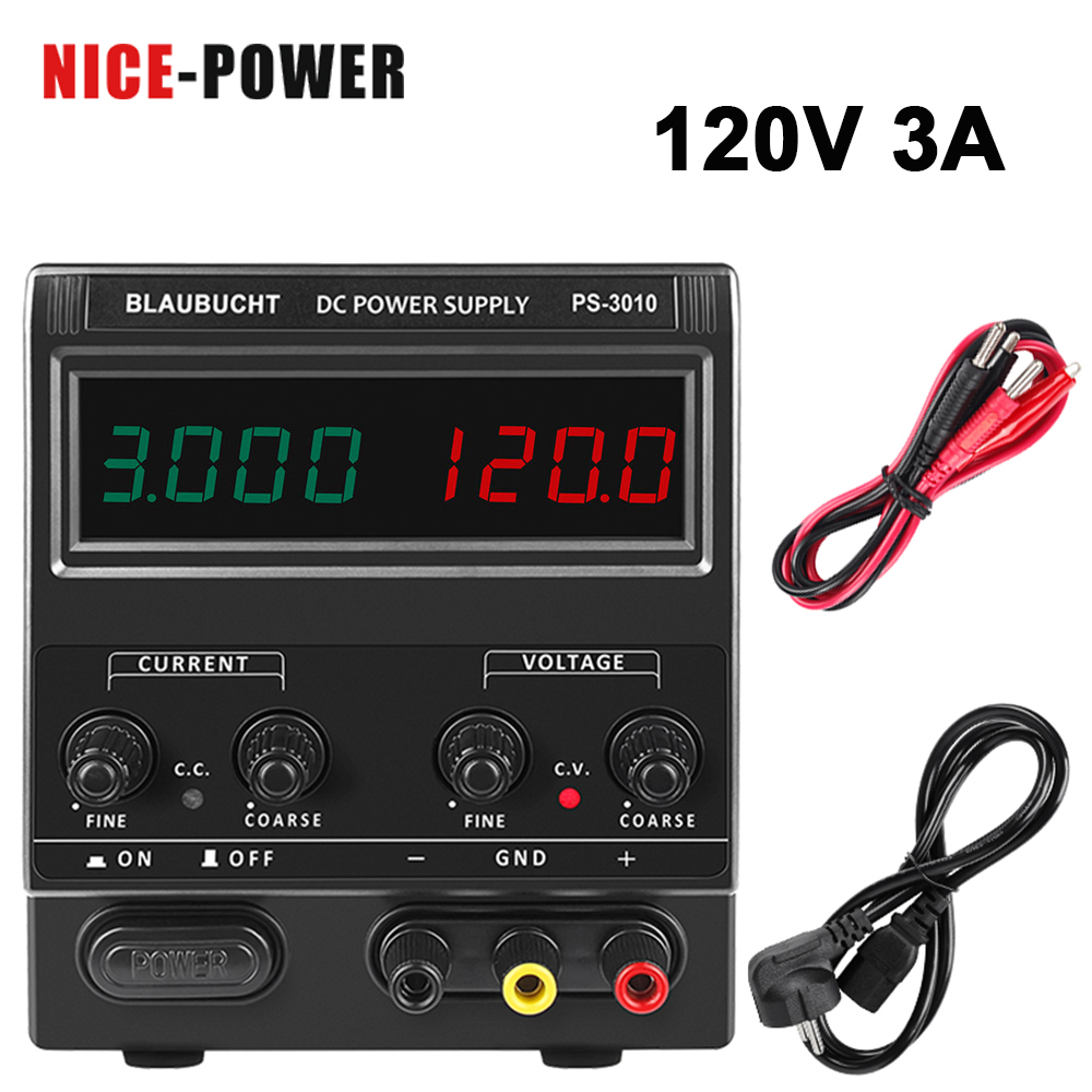 More Accurate 4 Digits Switching <font><b>DC</b></font> Lab <font><b>Power</b></font> <font><b>Supply</b></font> 0f Adjustable <font><b>30V</b></font> 10A 120V 3A <font><b>5A</b></font> Voltage Regulator Stabilizer Bench Source image