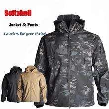 Tactical Camouflage Jacket Softshell Sharkshell TAD Or Pants Outdoor Clothing Waterproof Hiking Men Windbreaker