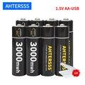 Литий-ионный аккумулятор aa 1,5 в, МВт/ч, usb аккумуляторная батарея, постоянное напряжение с usb-кабелем
