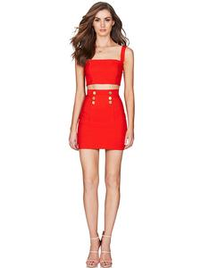 Ocstrade Bandage-Suit Anniversay Women Summer Sexy Red High-Quality 10th Big-Sale Up-To-90%Off