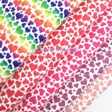 Glitter-Fabric Making-Bows Sheets Printed Leosyntheticodiy for T531 21X29CM 1PC Hearts