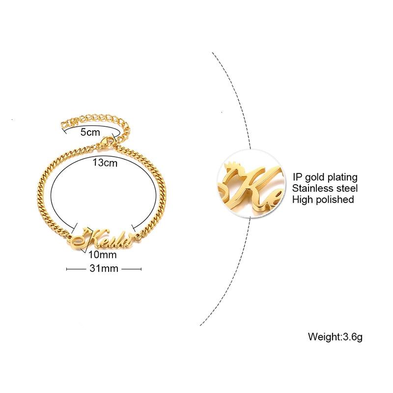 Custom Name Bracelet Personalized Women Bracelet Stainless Steel Customize Initial Charm Bracelet For Name Jewelry