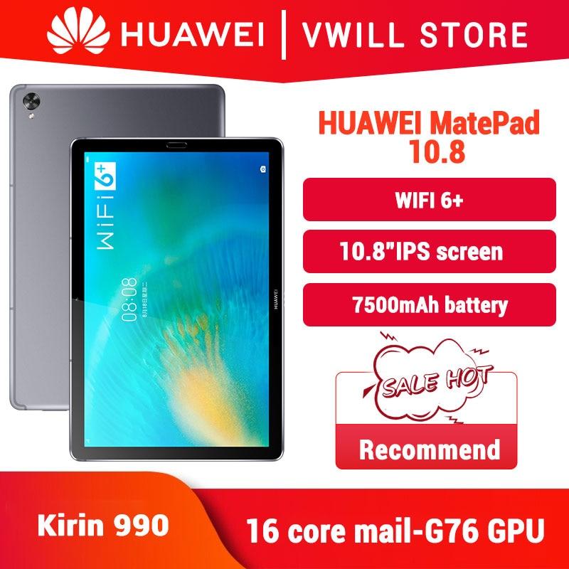 Original huawei matepad 10.8 polegada bloco de notas pc kirin 990 octa núcleo 7nm artesanato multi-tela colaboração wifi 6 +