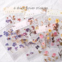 6 Designs Weekend Flowers Deco Stickers Scrapbooking Styling Bullet Journal Toy Deco Album DIY Stationery Stickers