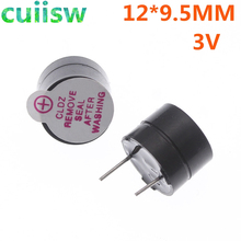 100 pcs, 3 V, Tone Alarm Ringer Actief Buzzer, 12MM * 9.5 MM, elektronische componenten