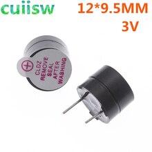 100 szt., 3 V, aktywny brzęczyk dzwonka, 12MM * 9.5 MM, elementy elektroniczne