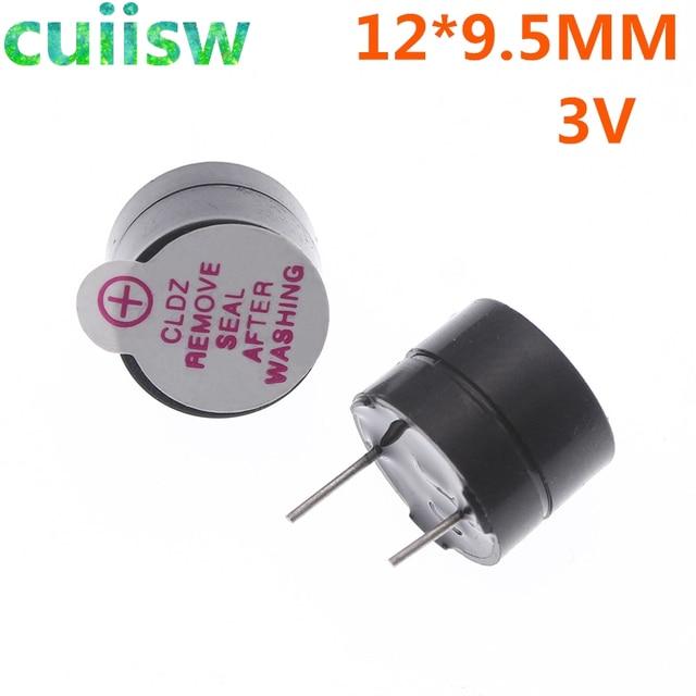100pcs,3V,Tone Alarm Ringer Active Buzzer,12MM*9.5MM, electronic components