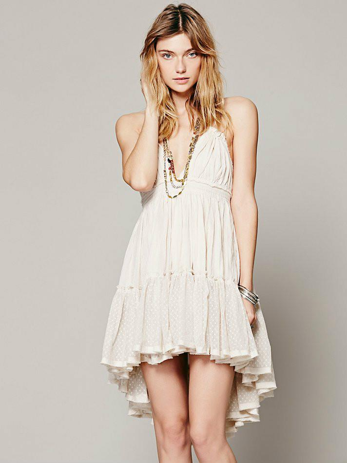 Women's Summer Halter Deep V Neck Sexy Patchwork Mini Short Dresses 5