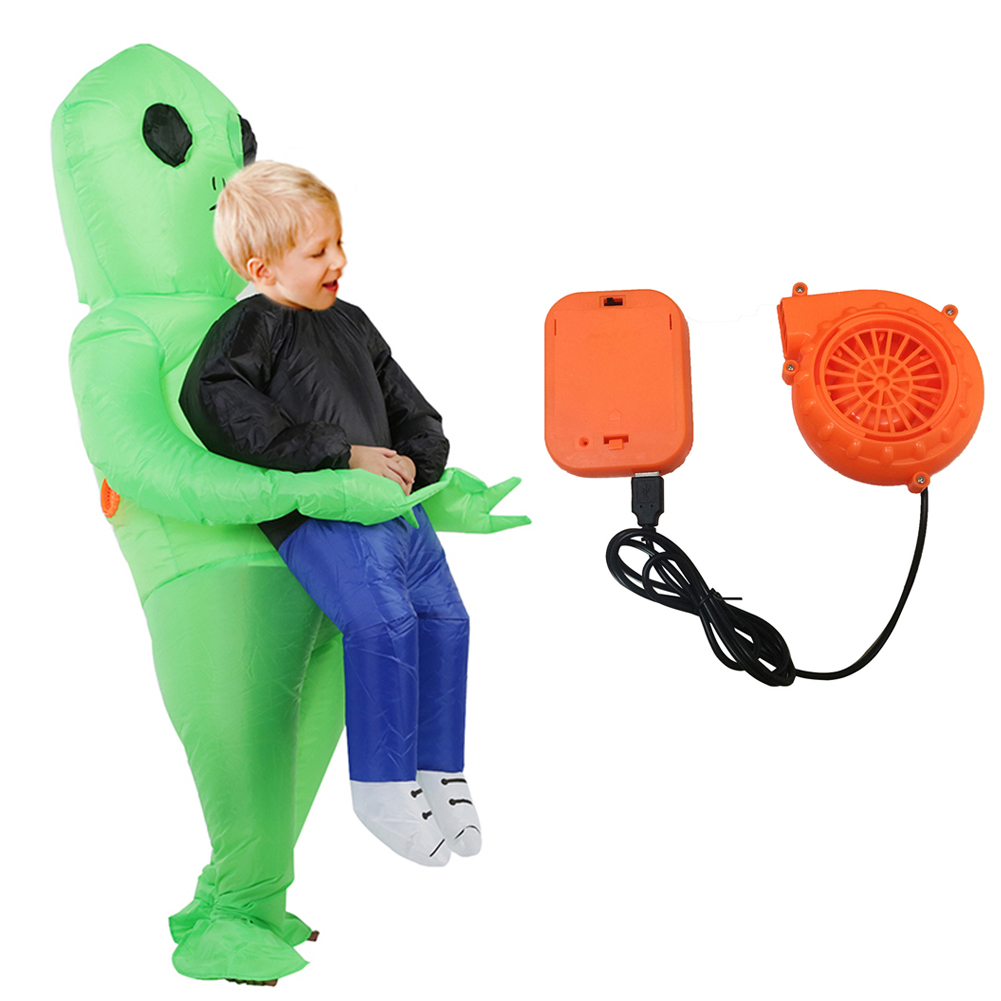 Halloween Inflatable Alien Costume Inflatable Halloween Party Cosplay Funny Clothes Blow Up Costumes Adult/Kids