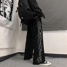Leg-Trousers Harajuku-Pants Japanese Streetwear Black Elastic-Waist Loose Sport Casual