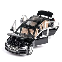1:24 760Li Extended Edition Alloy Car Model Toys Auto With Sound And Light 6 Door Opened Boy Large Proportion Grille Car Models