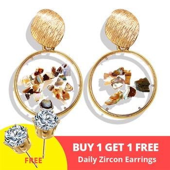 Geometric Shell Earrings For Women Earrings Jewelry Women Jewelry Metal Color: CS50152
