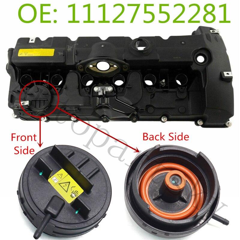 11127552281 PCV Cover Of N51/ N52 Engine Valve Cover For BMW E82 E90 E70 Z4 X3 X5 328i 528i  Part # 11 12 7 552 281