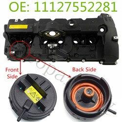 11127552281 PCV pokrywa N51/N52 zawór do silnika pokrowiec na bmw E82 E90 E70 Z4 X3 X5 328i 528i część #11 12 7 552 281 w Pokrywy zaworów od Samochody i motocykle na