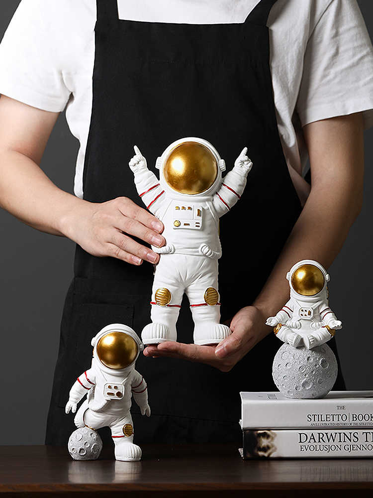 Nordique moderne astronaute figurines miniatures résine artisanat maison fée jardin bureau décoration articles d'ameublement accessoires de chambre