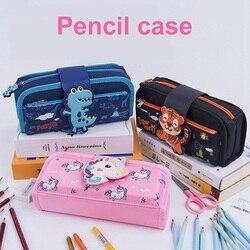Cute Cartoon Unicorn Detachable Pencil Case Big Capacity  School Pencil Bag Storage Bag Pen Pouch School Supplies Stationery