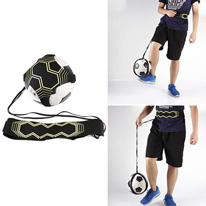 Soccer Ball Practice Belt Football Kick Training Belt Adjustable Trainer Train Equipment Practice Belt Hands Kids Adult Soccer