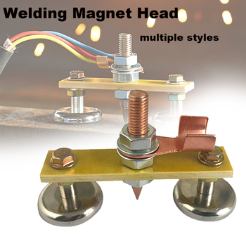 New Welding Magnet Head Welding Machine Magnetic Strong Magnetism Grounding Accessories Sheet Metal Repair Ground Wire Tool
