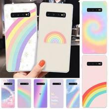 MayDaysmt Rainbow wallpaper Coque Shell Phone Case For Samsung S6 S7 S7 edge S8 S8 Plus S9 S9 Plus S10 S10 plus S10 E(lite) maydaysmt abstract art phone case cover for samsung s6 s7 s7 edge s8 s8 plus s9 s9 plus s10 s10 plus s10 e lite