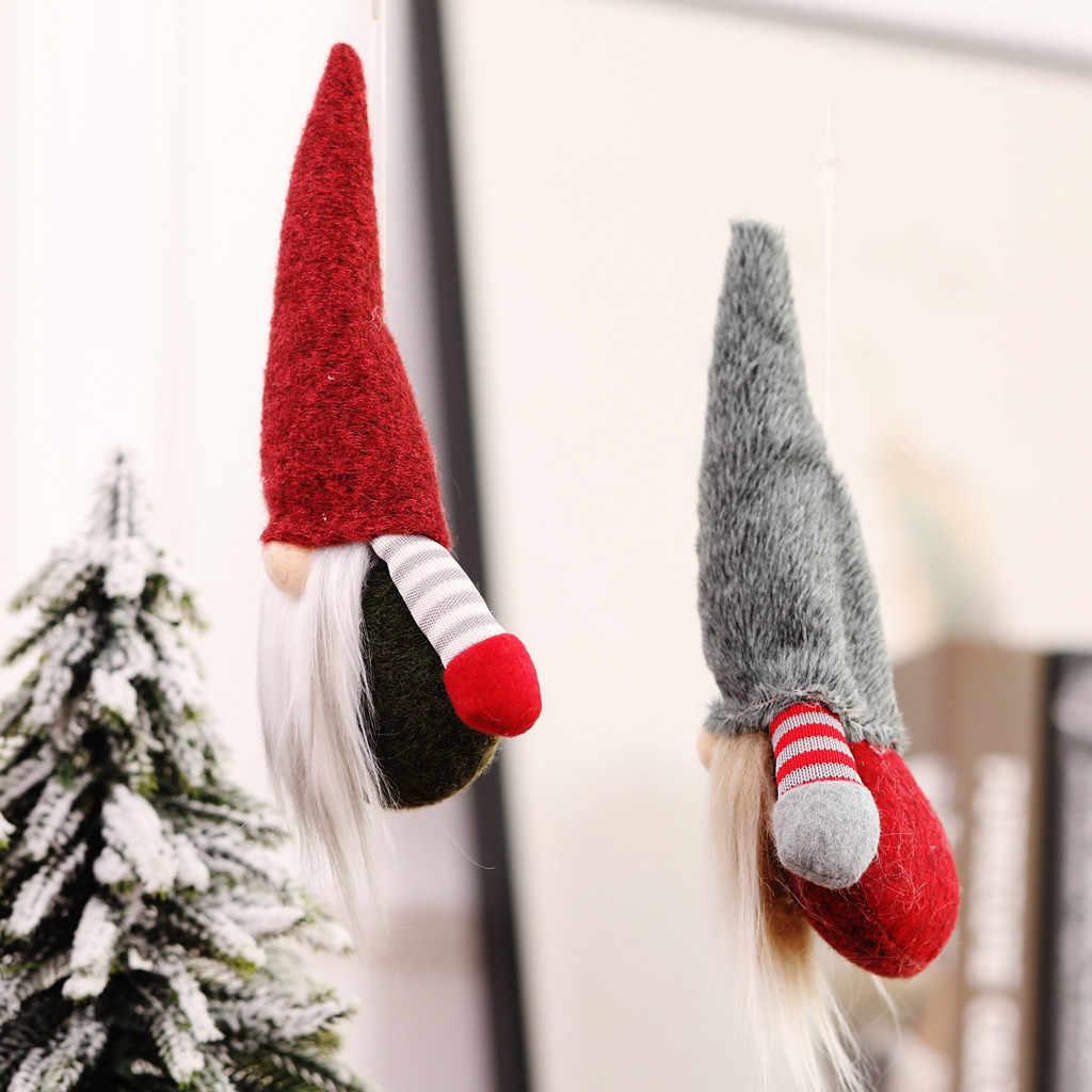 Handgemaakte Kerst Gnome Zweedse Beeldjes Hanger Faceless Kerst Opknoping Ornament 2020 Xmas Party Levert Kinderen Geschenken